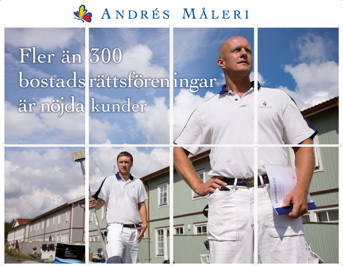 Ny profil för Andres Måleri i Uppsala.