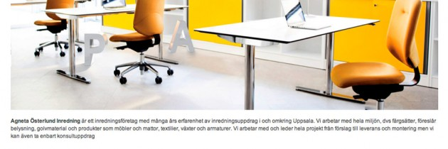Ny websida åt Österlund interiör