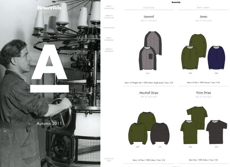 Säljmapp åt Resteröds Trikå Höstkollektionen 2011
